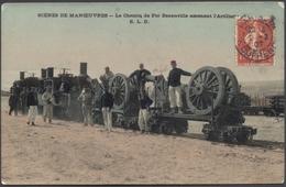 Scènes De Manœuvres - Le Chemin De Fer Decauville Amenant L'Artillerie - Color - ELD - Voir 2 Scans - Manöver