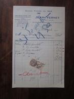 Ancienne Facture En-tête -1930 - Jean Vernet - Confiseur Glacier -  Béziers (34 Hérault) - Francia
