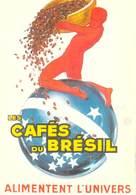 PUB Publicité NUGERON VA 23 -VIEILLES AFFICHES Les Cafés Du Brésil   (Jean D'YLEN Bibliothéque Fornay)*PRIX FIXE - Publicité