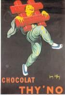 PUB Publicité NUGERON VA 24- VIEILLES AFFICHES Chocolat THY'NO    (Jean D'YLEN Bibliothéque Fornay)*PRIX FIXE - Publicité