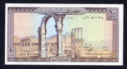 Banconota Libano 10 LIVRES - Libano