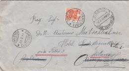 ITALIEN 1942 - Seltene Frankierung Auf Brief Gel.v. Milano > Tures > Retour, Transportspuren - Ganzsachen