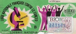 BILLET  DE  LOTERIE  LIGUE NATIONALE CONTRE LE CANCER  Espoir 1970 - Billets De Loterie