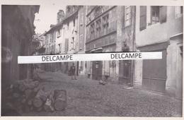 MUR DE BARREZ  Années 1930 - Photo Originale D'une Rue Typique, Le Magasin Mlle GUIRBAL  Modes ( Cantal ) - Lieux