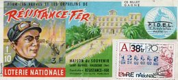 BILLET  DE  LOTERIE  RESISTANCE FER Maison Du Souvenir SAINT-RAPHAEL VALESCURE FONDATION Résistance-Fer 1970 - Billets De Loterie