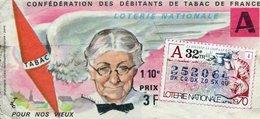 BILLET  DE  LOTERIE  CONFEDERATION DES DEBITANTS DE TABAC Pour Nos Vieux 1970 - Billets De Loterie