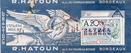 BILLET  DE  LOTERIE  R. HATOUN  Bordeaux 1970 - Billets De Loterie