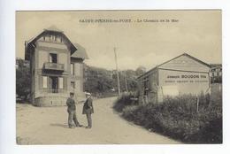 CPA Fécamp Saint Pierre En Port Le Chemin De La Mer Joseph Bougon Fils - Fécamp