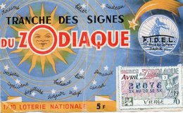 BILLET  DE  LOTERIE  TRANCHE DES SIGNES DU ZODIAC  1970 - Billets De Loterie