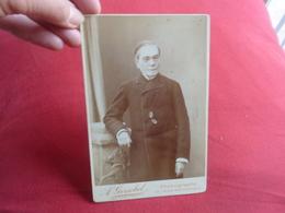 Photo Originale 19eme  Circa 1880 Portrait HOMME Photographe A. GERSCHEL CABINET COSTUME - Anonymous Persons