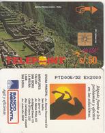 """PERU - Machu Picchu/Cuzco 1(puzzle 4/4, Reverse """"Banco Mercantil""""), Tirage 2000, Used - Peru"""