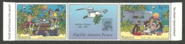 NAURU 1995 50TH ANNIVERSARY PEACE IN THE PACIFIC WAR MILITARY BIRDS MOTHER TERESA SET MNH - Nauru
