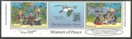NAURU 1997 50TH ANNIVERSARY PEACE IN THE PACIFIC WAR MILITARY BIRDS MOTHER TERESA SET MNH - Nauru