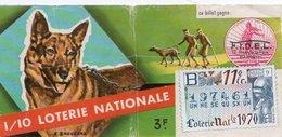 BILLET  DE  LOTERIE  CHIENS BLESSES DE GUERRE 1970 - Billets De Loterie