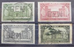 Estampillas Perforadas Marruecos - Perforated Stamps Morocco - Perfins - Marocco (1956-...)