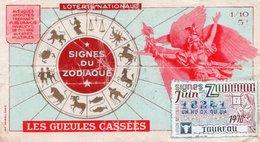 BILLET  DE  LOTERIE  LES GUELLES CASSEES  Signes Du Zodiac 1970 - Billets De Loterie