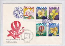 FDC. PLANTAS MEDICINAIS DE ANGOLA. EXPOSIÇAO FILATELIA INTERNACIONAL. ARGENTINA 1985. ANGOLA.-BLEUP - Angola