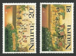 NAURU 1987 CHRISTMAS CHILDRENS PARTY XMAS DINNER SET MNH - Nauru