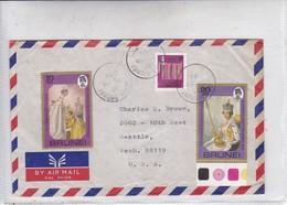 AIRMAIL. CIRCULEE BRUNEI TO USA 1981. AVEC BORD DU PLAQUE.-BLEUP - Brunei (1984-...)