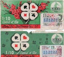 2 BILLETS DE LOTERIE CARRE D'AS  1970 - Billets De Loterie