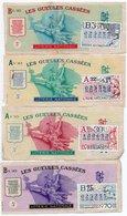 4 BILLETS DE LOTERIE LES GUELLES CASSEES  1970 - Billets De Loterie
