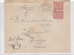 SOBRE ENVELOPE. CIRCULEE NEDERLANDSCH INDIE TO HOLLAND 1924.-BLEUP - Niederländisch-Indien