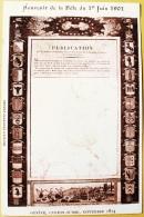 CPA Souvenir De La Fête Du 1er Juin 1901 Publication Genève Canton Suisse Sept. 1814. Société Genevoise D'Edition Atar - Patriottisch