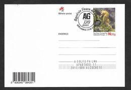Portugal Entier Postal 2018 Aquarium Vasco Da Gama 120 Ans Hippocampe Poissons Cachet Postal Stationery Seahorse Fishes - Ganzsachen