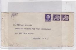 SOBRE ENVELOPE CIRCA 1950's CIRCULEE ITALIA TO USA, TWENTIETH CENTYRU FOX FILM CORP. MARQUE PM. ITALIA.-BLEUP - 6. 1946-.. Republic