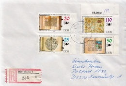 Postal History Cover: Germany / DDR Registered With Complete Set - Museums