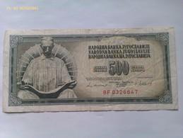 Billete Yugoslavia. 500 Dinares. 1981 - Yugoslavia