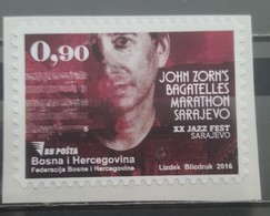 Bosnia And Hercegovina, 2016,  XX Jazz Fest, Personal  Stamp,- Self-adhesive 201 Image(s)6 (**) RRR Only 300 Item (MNH) - Música