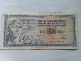 Billete Yugoslavia. 1.000 Dinares. 1978 - Yugoslavia