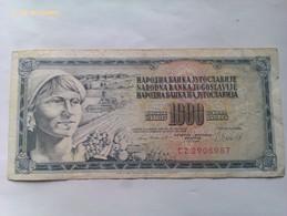 Billete Yugoslavia. 1.000 Dinares. 1981 - Yugoslavia