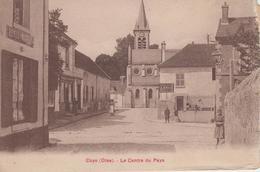 CPA Coye - Le Centre Du Pays (avec Petite Animation Et Magasins) - Frankrijk