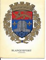 [33] Gironde > BLANQUEFORT  Carte D'INVITATION Pour Repas Des Anciens De La Commune 23 Janvier 1972 (blason) * PRIX FIXE - Blanquefort