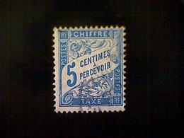 France, Scott #J29, Used (o), 1894 Postage Due, 5cts, Blue - 1853-1860 Napoleon III