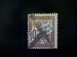France, Scott #J30,used (o), 1893 Postage Due, 10cts, Brown - 1853-1860 Napoleon III