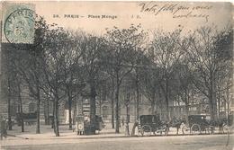 Cpa  Paris 5 Place Monge - Distrito: 05