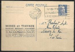 LF A95  Carte De 1950 De Paris Rue D'Amsterdam Timbre N°812 - Poststempel (Briefe)