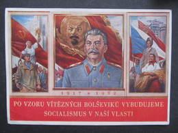 AK PROPAGANDE Komunismus Stalin 1952  ////  D*32058 - People