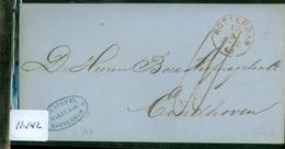 HANDGESCHREVEN BRIEF Uit 1863 Gelopen Van ROTTERDAM Naar EINDHOVEN * FIRMASTEMPEL (11.142) - Period 1852-1890 (Willem III)