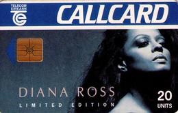 TARJETA TELEFONICA DE IRLANDA, DIANA ROSS, With Double Logo: Printed Moreno Logo And Transparent Logo. 1055 (087) - Música