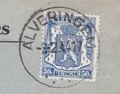 N° 426 OBL ALVERINGEM  SUR GRAND FRAGMENT  DE MUNICIPALITE - Belgium