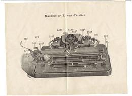 Machine à Ecrire Et à Calculer DACTYLE Lettre Et Document Publicitaire  3 Mars 1914 - Imprimerie & Papeterie