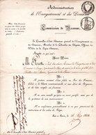 ADMINISTRATION DE L'ENREGISTREMENT ET DES DOMAINES. Nomination De BAUGI à CHÂTILLON / MARNE De PÉRET É. - Réf. N°83F - - Documents Historiques