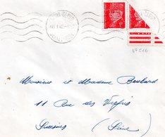 Lettre Avec Timbre Marèchal Pètain  N°514 Et Un Demi  (1942) - France