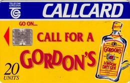 TARJETA TELEFONICA DE IRLANDA, GORDON'S LONDON GRY GIN. 1075 (077) - Irlanda
