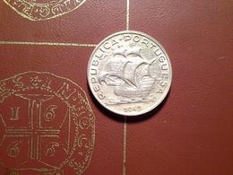 5 Escudos 1943    Silver UNC - Portugal
