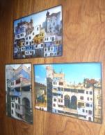 Série De 3 Cartes Postales - Das Hundertwasser Haus - Foto : Peter Dressler - Illustrateurs & Photographes